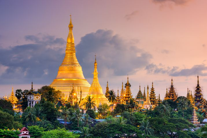 Pagoda Shwedagon in Birmania